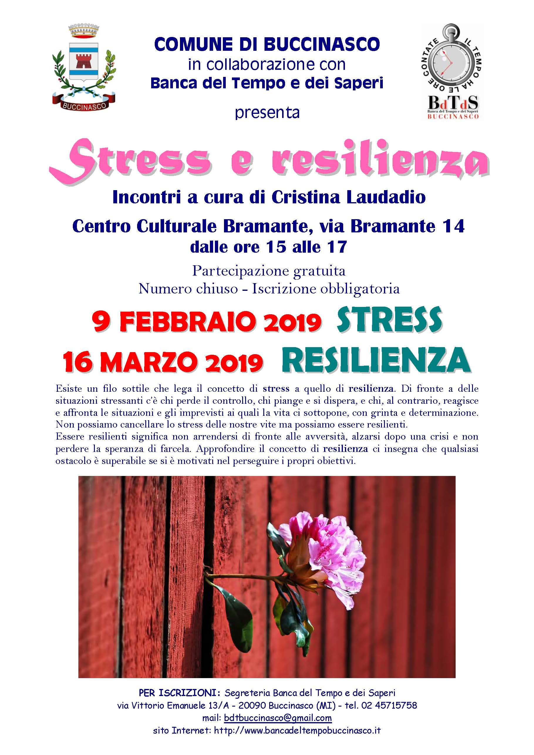Stress e resilienza 9feb e 16mar19